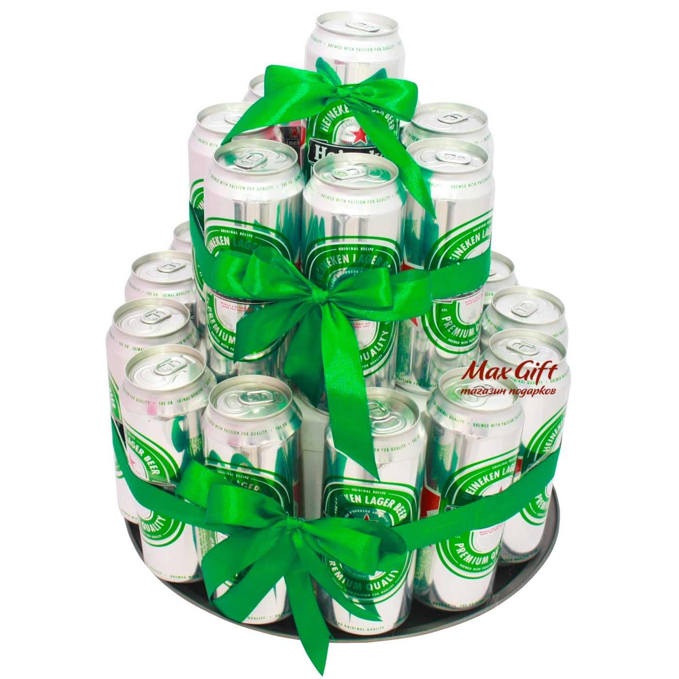 Как сделать подарок из бутылок пива 59