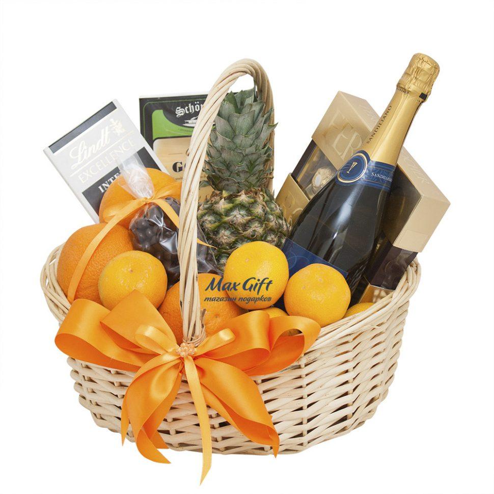 Как собрать фруктовую корзину в подарок 56