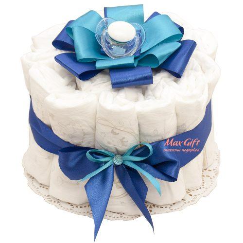 Торт из памперсов «Взбитые сливки»