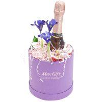 Подарочный набор с цветами «Сиреневая луна»