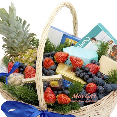 """Подарочная корзина с фруктами """"Благодарю"""""""