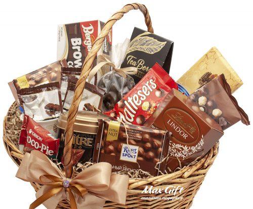 Подарочная корзина Шоколадное ассорти