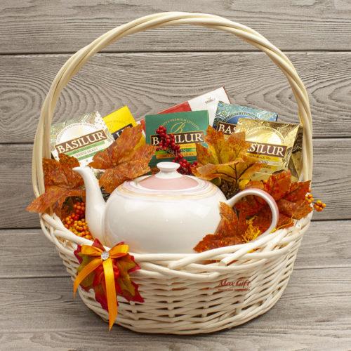 Подарочная корзина «Осеннее утро»