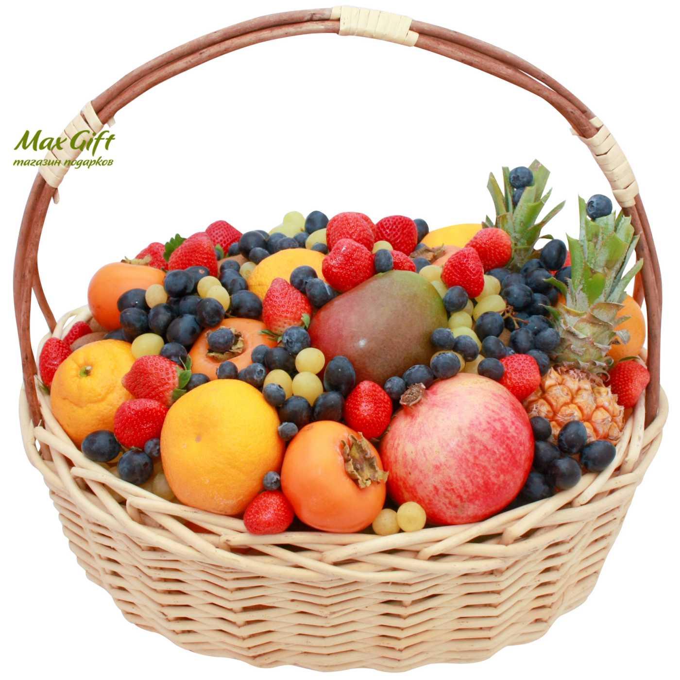 Фото корзина с фруктами