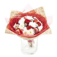 Фруктовый букет с цветами «Ксюша»