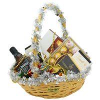 """Подарочная корзина c виски """"Jack Daniels"""" (новогодняя)"""