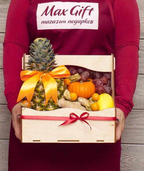 Подарочный набор с фруктами «Осенние деньки»