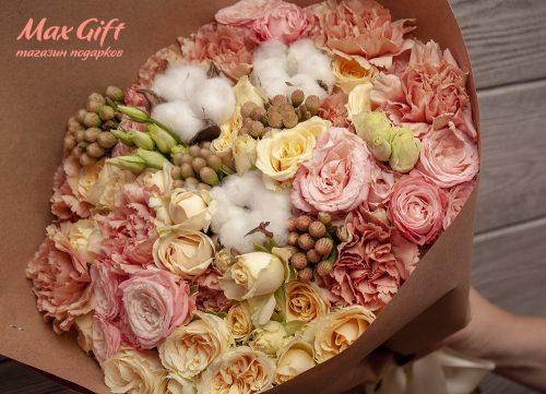 Букет из цветов «Беж»