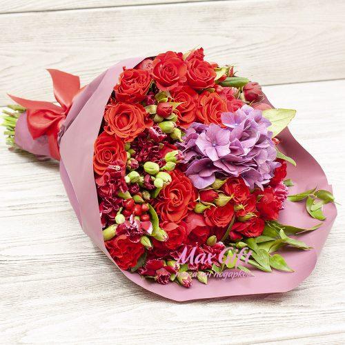 Букет из цветов «Бордо»