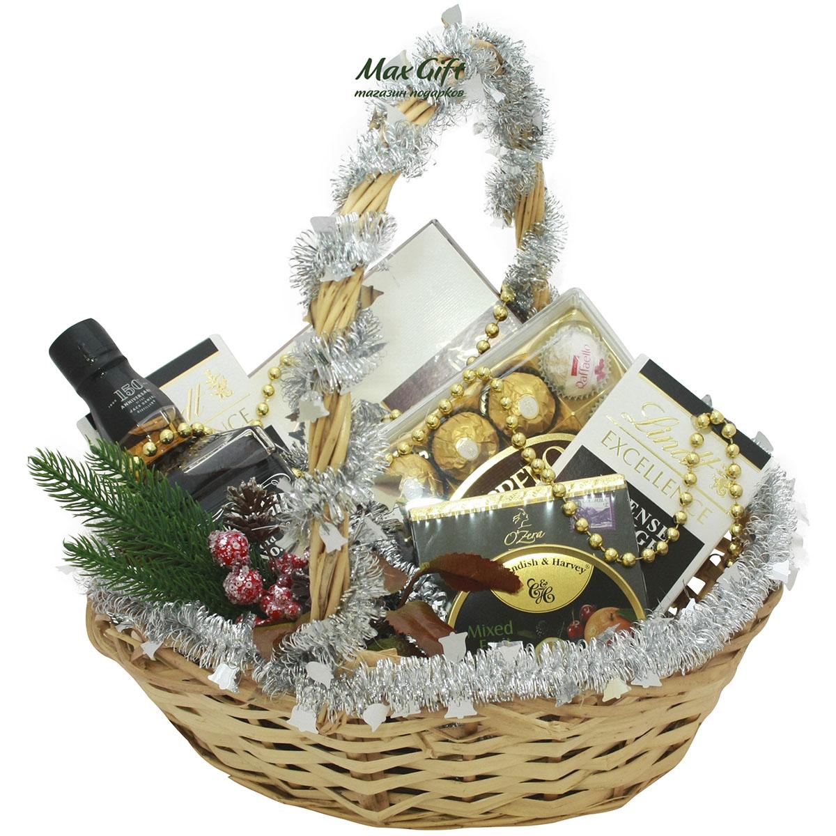 """Подарочная корзина """"Jack Daniels"""" (новогодняя)"""