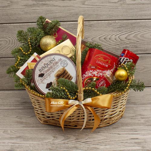 Подарочная корзина «Сладости к Новому году»