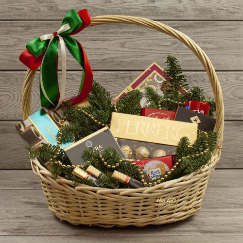 Подарочная корзина Новогодние сладости
