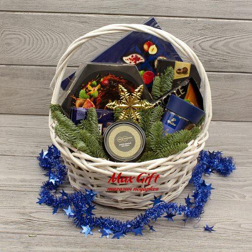 Подарочная корзина «Новогодний ультрамарин»