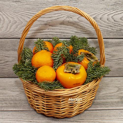 Фруктовая корзина «Оранжевый новый год»
