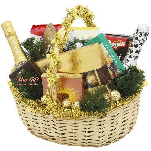 """Подарочная корзина """"Новогоднее торжество"""""""