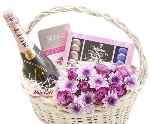 Подарочная корзина с цветами «Мираж»