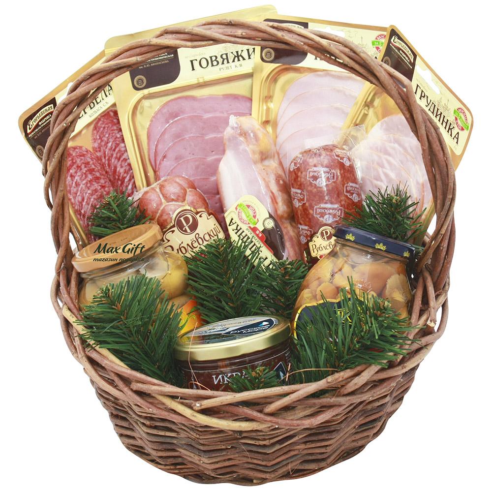 """Подарочная корзина """"Новогодняя закусочка"""""""