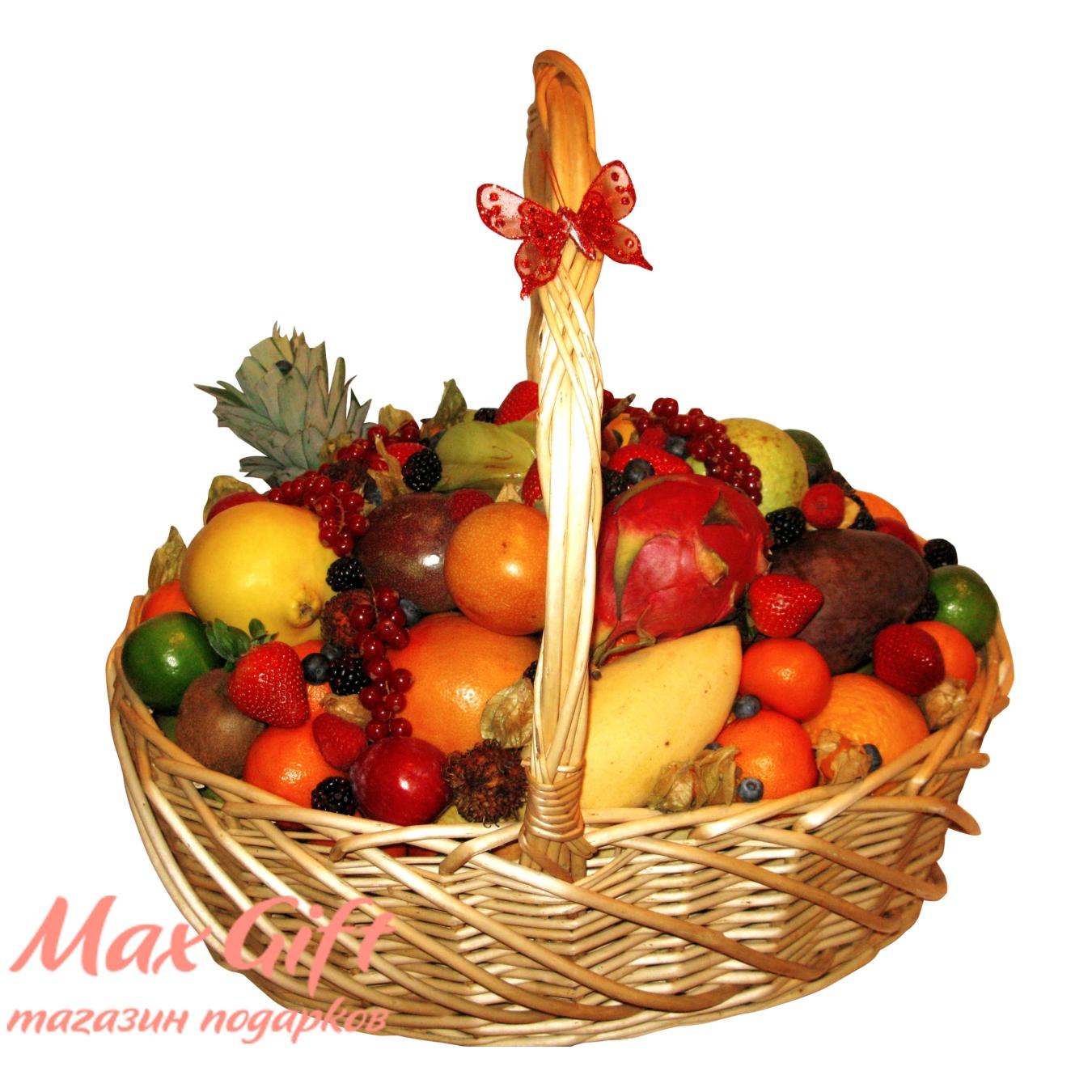 """Корзина с фруктами """"Высшее Общество"""""""