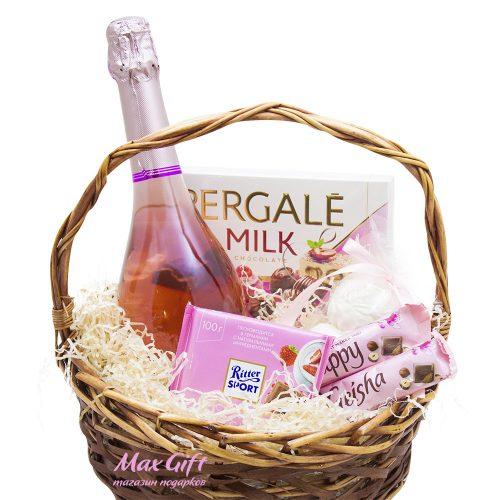 Подарочная корзина Розовая дымка