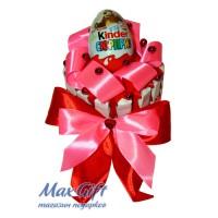 Торт из конфет «Kinder сюрприз»