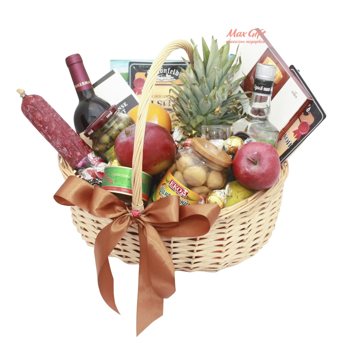 Как собрать фруктовую корзину в подарок 93