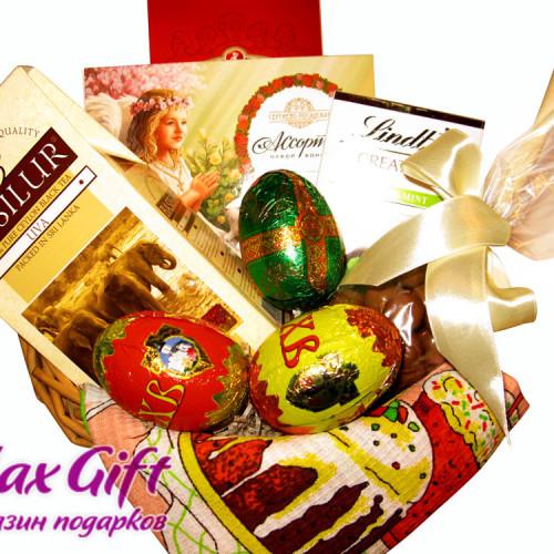 """Подарочная корзина """"Шоколадная пасха"""""""