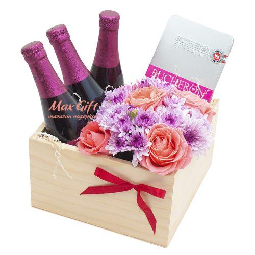 Подарочный набор с цветами «Линдеманс»