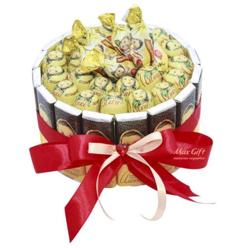 """Торт из конфет """"Алёнушка"""""""