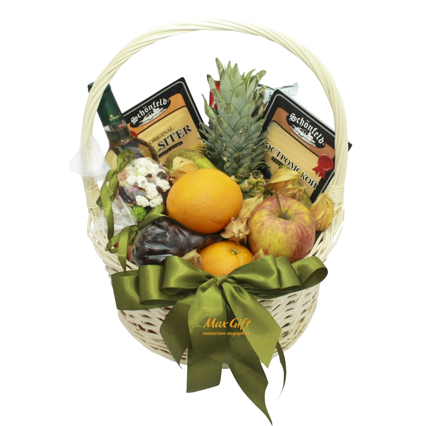 """Подарочная корзина с фруктами """"Наслаждение"""""""