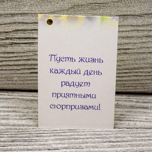 Мини открытка «Пусть жизнь каждый день радует»