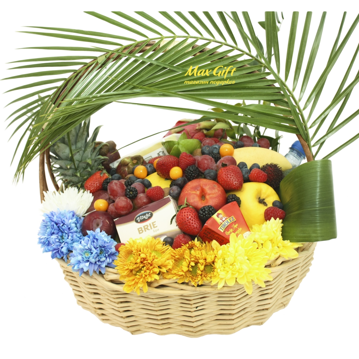 """Корзина с фруктами и цветами """"Летние деньки"""""""
