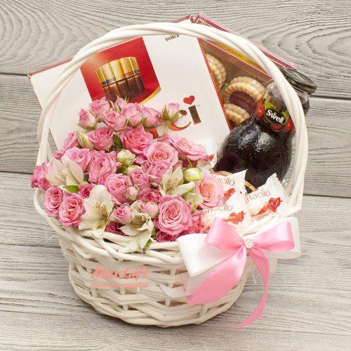 Подарочная корзина с цветами «Pink»