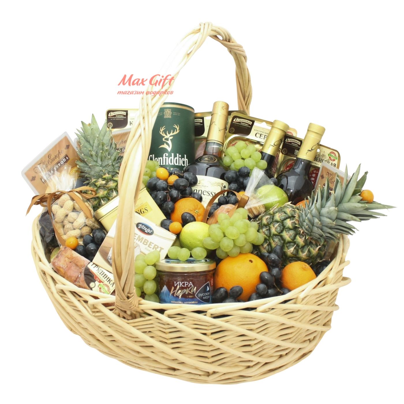 """Подарочная корзина с фруктами """"Гигантская"""""""