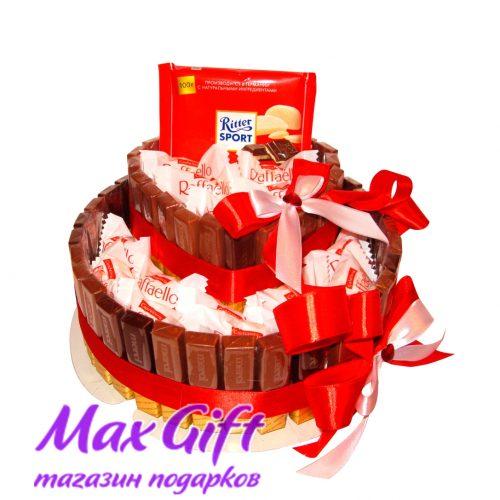 """Торт из конфет """"С любовью"""""""