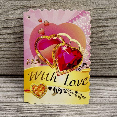 Купить мини открытку «С любовью»