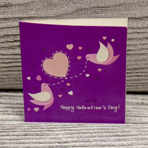 Мини открытка «С днем святого Валентина»