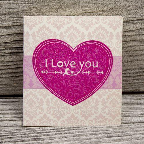 Мини открытка «I love you»