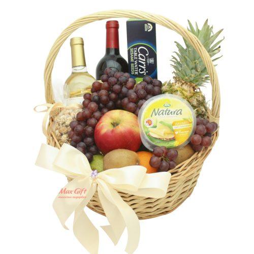 """Подарочная корзина с фруктами """"Де люкс""""."""