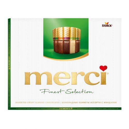 Шоколадные конфеты «Merci, миндаль» 250гр.