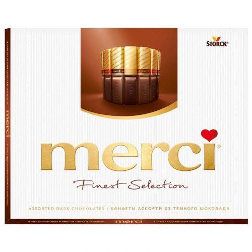 Шоколадные конфеты «Merci, тёмный шоколад» 250гр.