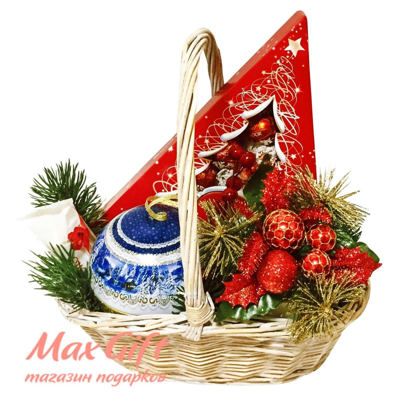"Подарочная корзина ""Новогодняя ёлочка"""