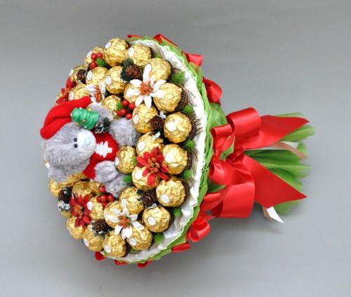 """Букет из конфет """"С Новым годом!"""""""