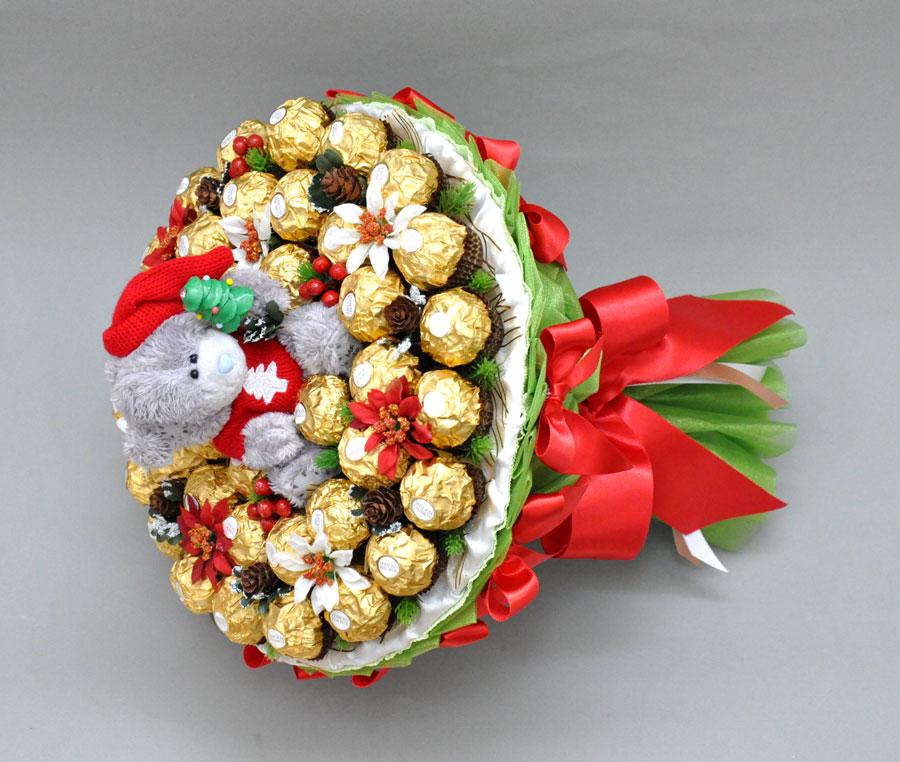 Букет из конфет подарок к новому году