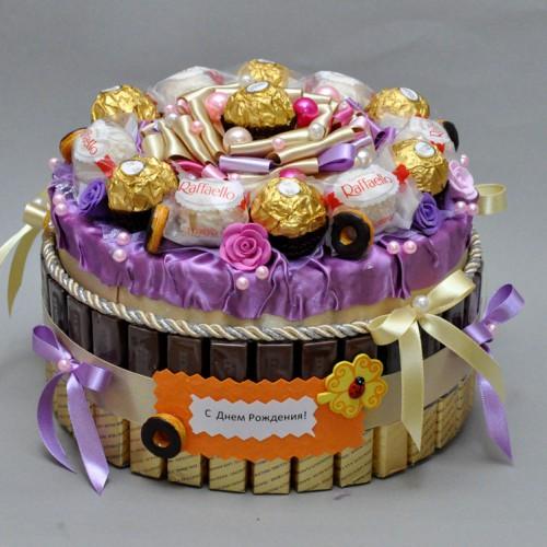 "Торт из конфет ""Лакомка"""