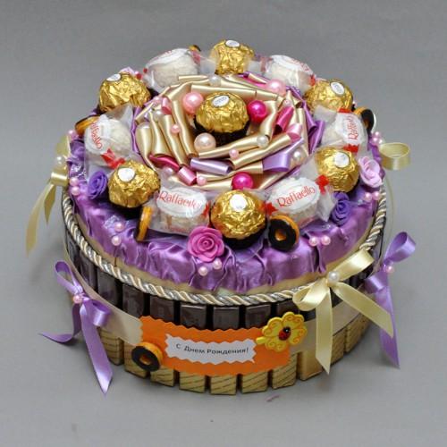 "Торт из конфет ""Лакомка"" 3"