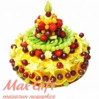 """Композиция из фруктов """"Праздничный торт"""""""